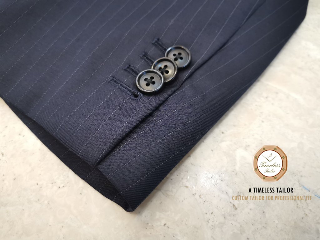 Buttonholes】Functional Jacket Sleeve Buttonholes